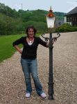 """Cast Iron & Copper 75"""" Lamp Post Victorian Style (E21 curved ladder bar Cop)"""