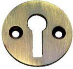 Solid Antique Polished Brass Victorian Door Key open Escutcheon (XL104)