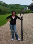 "Cast Iron 65"" Bollard Type Lamp Post Victorian style - clear glass (E21)"