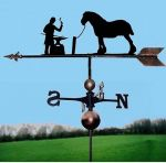 Blacksmith / Farrier & Horse Weathervane, Handmade, Very High Quality