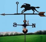 Horse Racing Weathervane, Handmade, Very High Quality