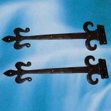 "AB52//20 A pair of 20/"" FDL Working Door Hinges Black Cast Iron"