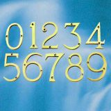 Polished Brass Door Numbers
