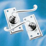 Satin Chrome Door Handles
