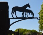 Horse & Foal Hanging Basket Bracket