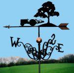 Fergie & Tree Traditional Weathervane