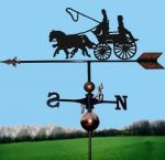 Coach & Two Orbital Weathervane