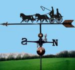 Coach & Four Orbital Weathervane