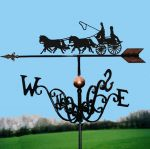 Coach & Four Traditional Weathervane