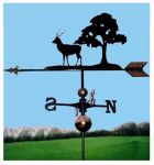 Eight Point Stag & Tree Orbital Weathervane