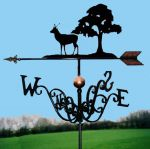 Eight Point Stag & Tree Traditional Weathervane
