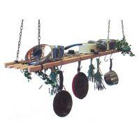 Black Hanging Pot / Pan Rack 1.2m kit in Black Cast Iron