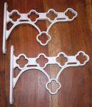 White Pot / Pan Rack shelf Bracket Kit in White Cast Iron