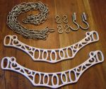 White Concave Hanging Pot / Pan Rack Bracket kit in White Cast Iron (1507K)