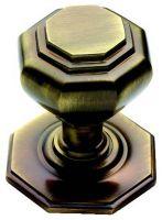 Solid Antique Brass Victorian Centre Pull Door Knob / Handle (XL15B)