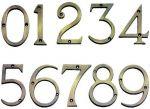 Antique Brass 75mm Door Numbers (no 1'S)