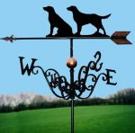 Two Retrievers Traditional Weathervane