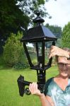 Cast Iron Wall lamp Lamp / Lantern Victorian style Clear Glass (E65)
