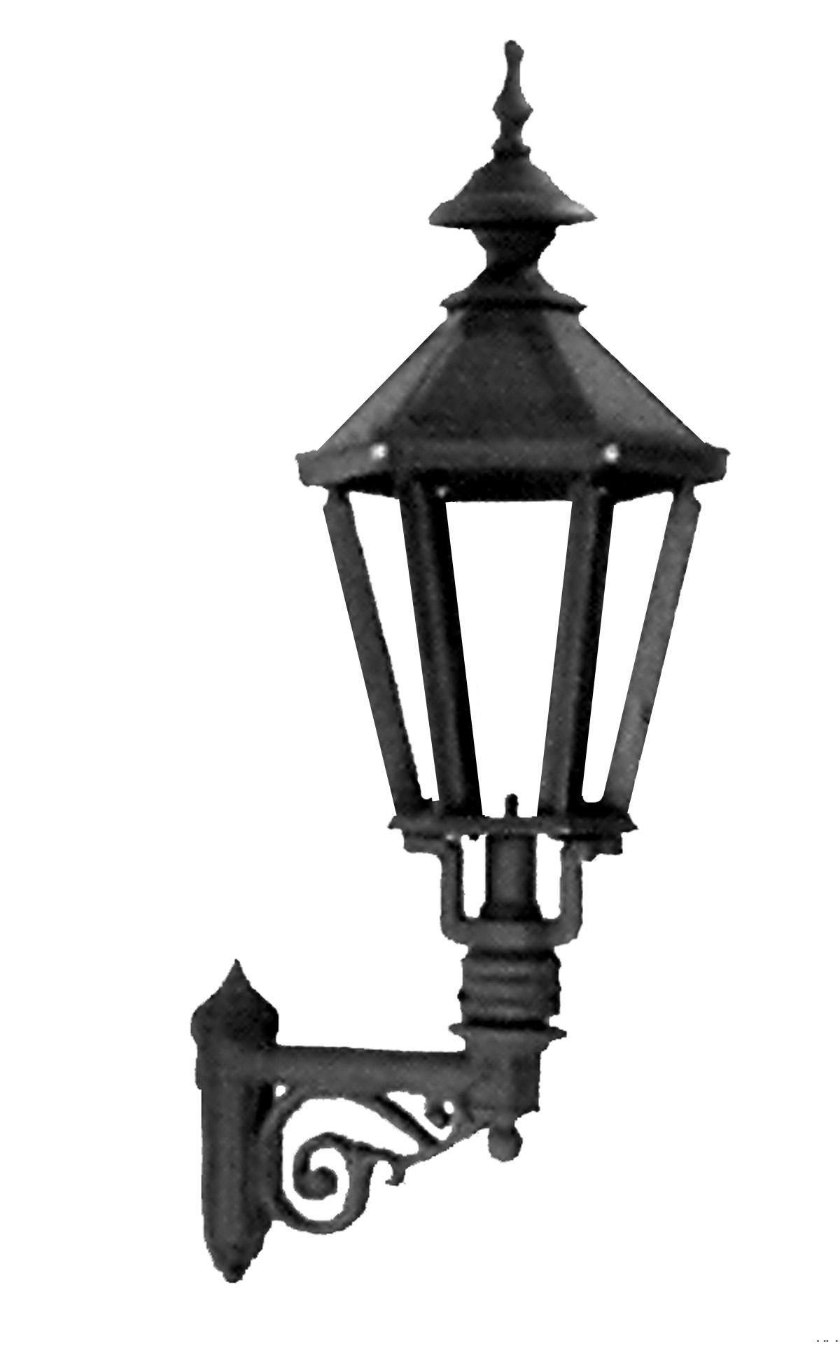 cast iron wall lamp lamp lantern victorian style clear glass e66